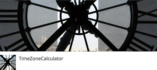 TimeZone Calculator