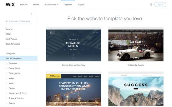 wix templates for wordpress - wix vs wordpress which one is better pros and cons