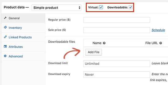 Een downloadbaar product toevoegen in WooCommerce