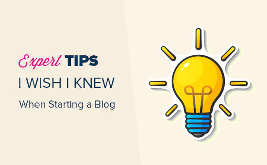 Expert tips for starting a blog