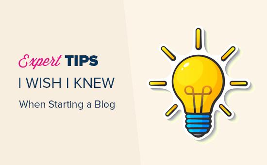 ब्लॉग शुरू करने के लिए विशेषज्ञ सुझाव