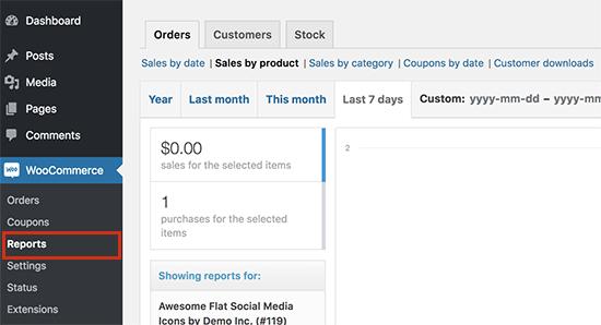 Downloadrapporten bekijken in WooCommerce