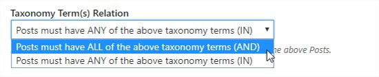 Taxonomy term relation