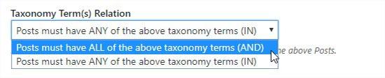 Taxonomie term relatie