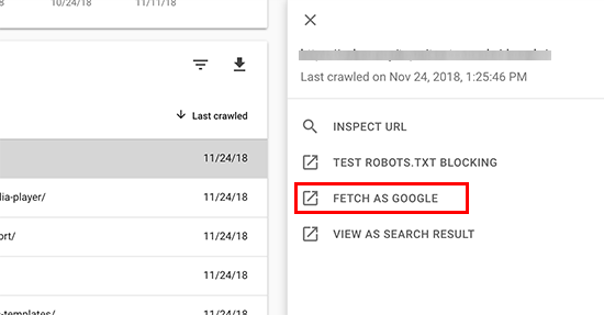 Fetch as Google in new Search Console dashboard