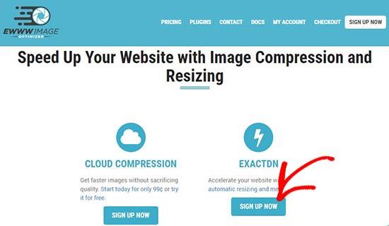 ExactDN website