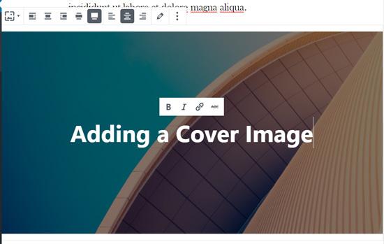 Voeg tekst toe aan je omslagafbeelding in de WordPress-blokeditor