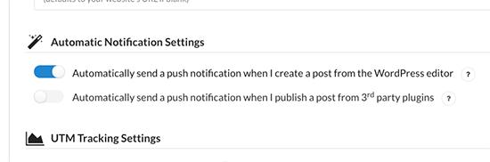 Envío automáticamenteo de notificaciones push para todas las publicaciones nuevas publicadas en su sitio web