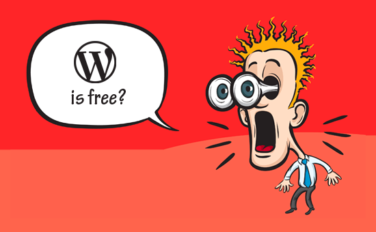 WordPress is gratis
