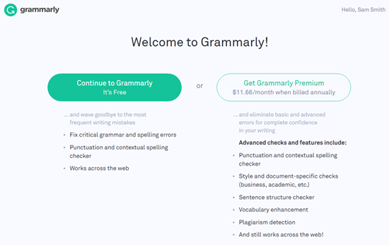 Choose a Grammarly Plan