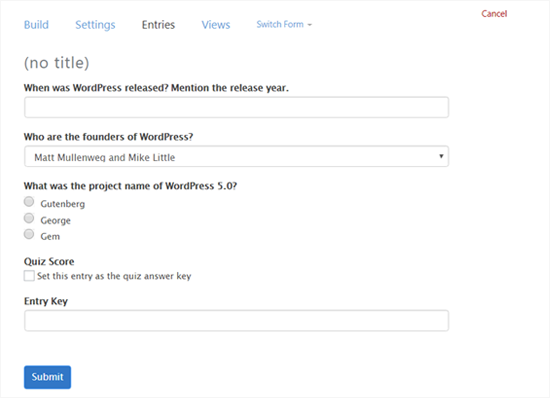 How to Easily Create a Quiz in WordPress