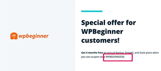 Exclusive discount for WPBeginner users