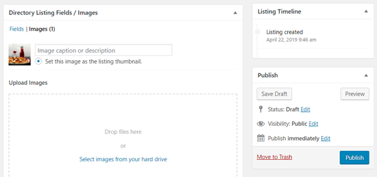 Upload Image to Your WordPress Business Directory