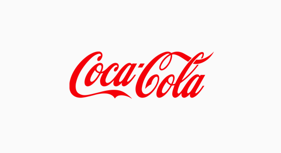 Coca Cola's iconic logo is a classic example of a wordmark logo