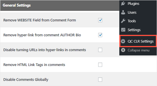 Comment Link Remove and Comment Tools plugin