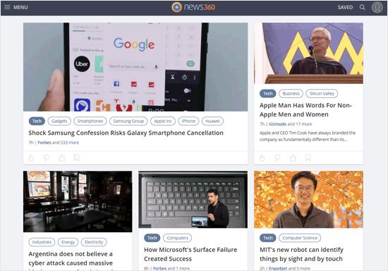 News360 News Aggregator Website