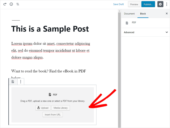 How to Embed PDF, Spreadsheet, and others in WordPress Blog