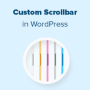 How to Add a Custom Scrollbar in WordPress