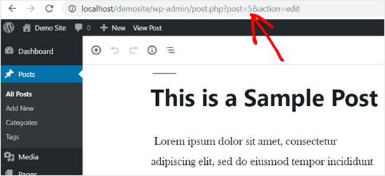 WordPress Post ID in Web Browser's Address Bar