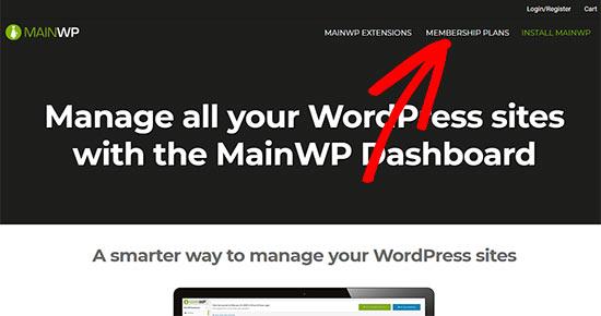 MainWP site