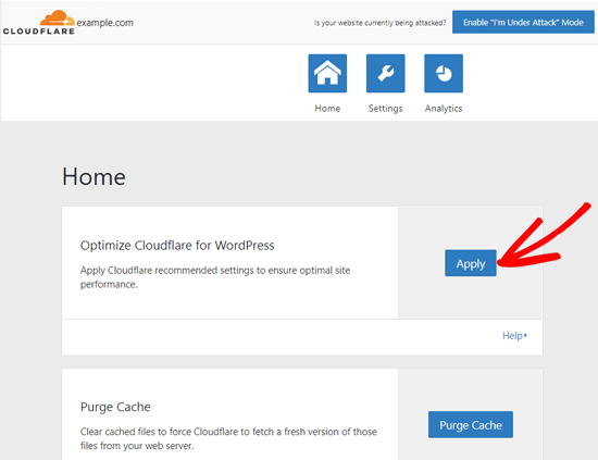 Optimize Cloudflare for WordPress