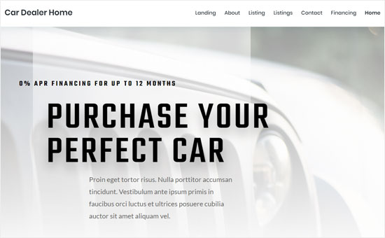 Divi Car Dealer