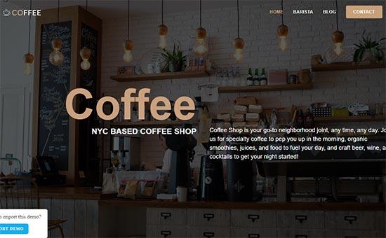 OceanWP Coffee