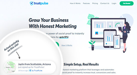 TrustPulse Social Proof Bubble