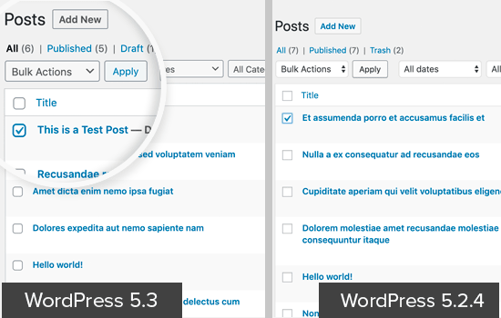 Form fields in WordPress 5.3 UI