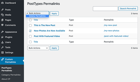 Manage your custom permalinks