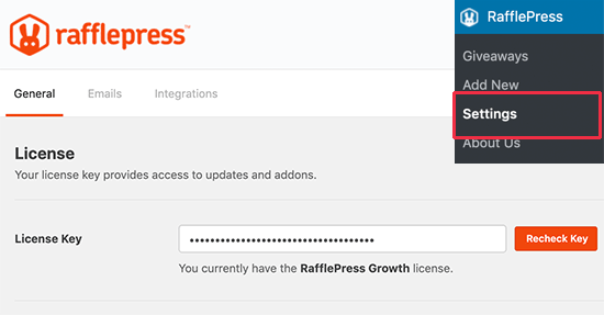 RafflePress license key