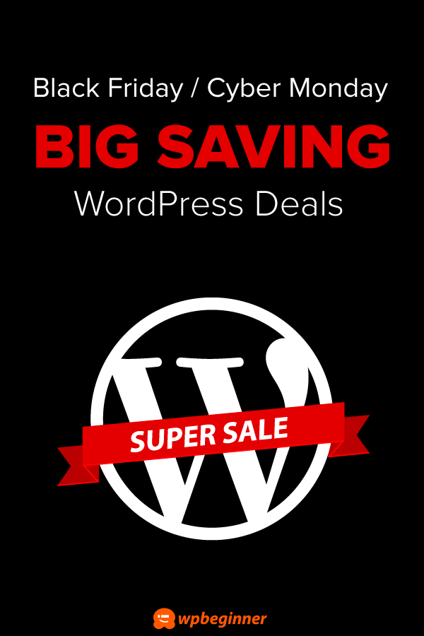 2019 WordPress Black Friday / Cyber Monday Deals (Huge Savings)