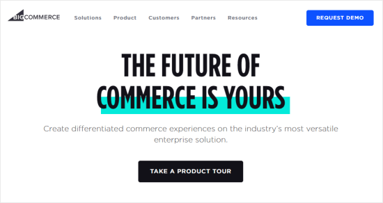 BigCommerce's eCommerce platform website