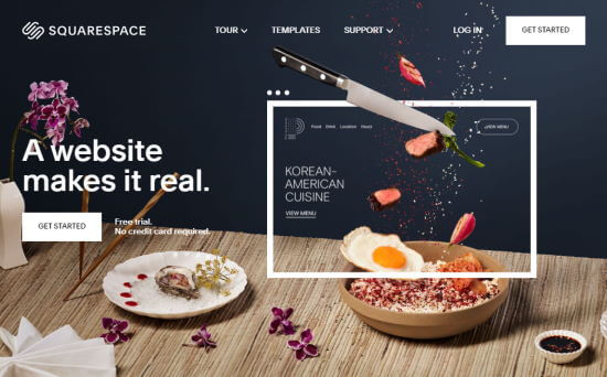 The Squarespace website builder