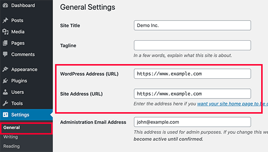 Non www o www negli URL di WordPress