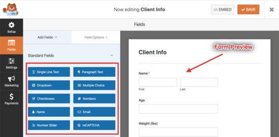 modifica il tuo nuovo modulo di richiesta del cliente