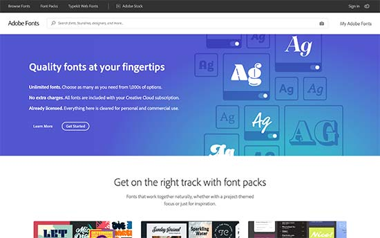 Typekit Adobe Fonts