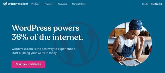 The WordPress.com all-in-one website builder