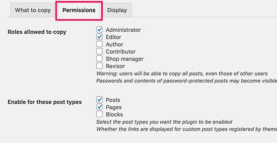 Autorizzazioni Post duplicate