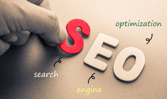 SEO - search engine optimization - in letters