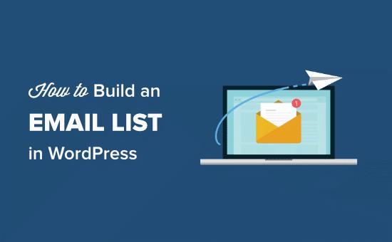 Hoe maak je een e-maillijst in WordPress