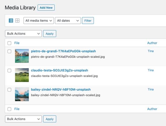 Biblioteca multimedia de Tina