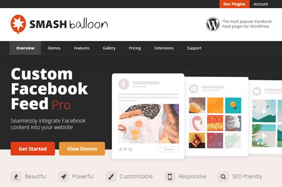 Feed Facebook personalizzato Smash Balloon Pro