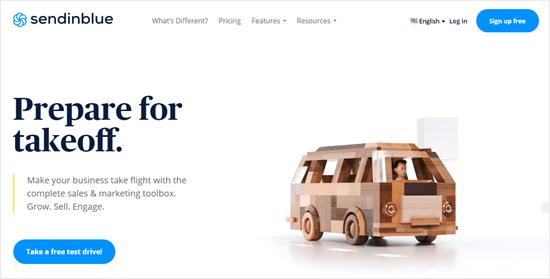 Il sito web Sendinblue