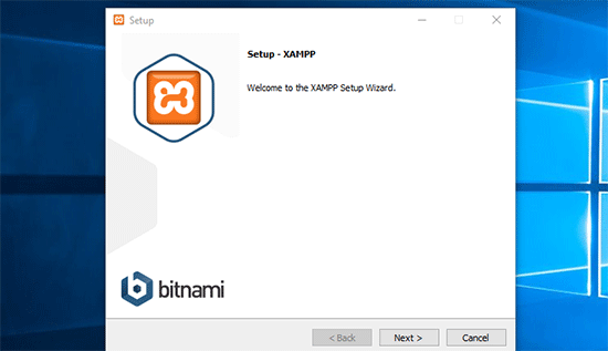XAMPP set up wizard
