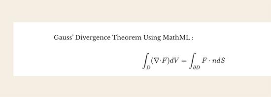 Anteprima del MathML
