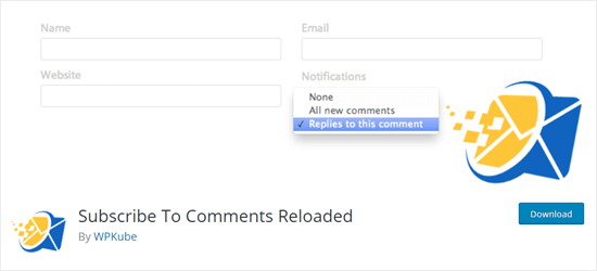 The Subscribe to Comments Reloaded plugin