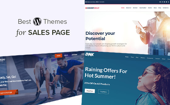 Best sales page WordPress themes for marketers