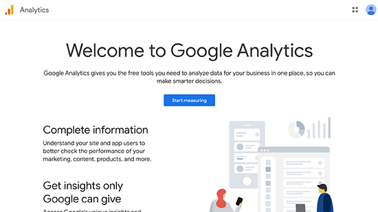 Iscriviti a Google Analytics
