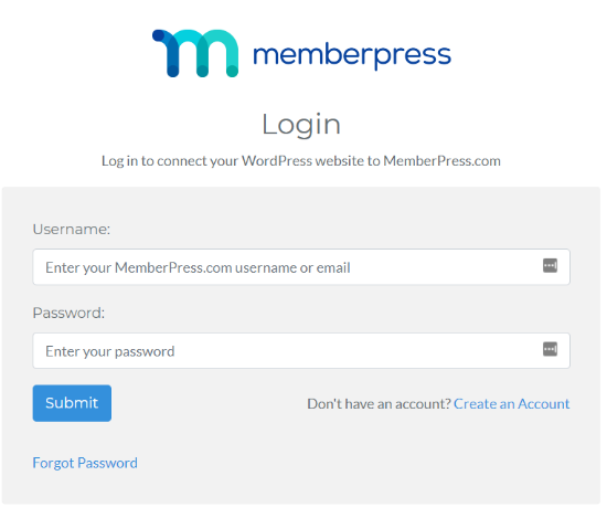 login to your memberpress account